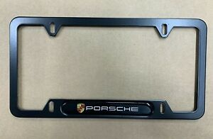 1 For Porsche Metal License Plate Frame New Car 911 Cayenne Free Shipping New