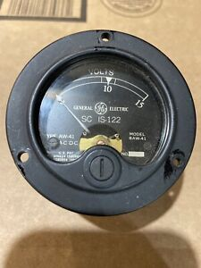 Vintage General Electric Ge Sc Is 122 Type Aw 41 Ac dc 0 15 Volts Panel Meter