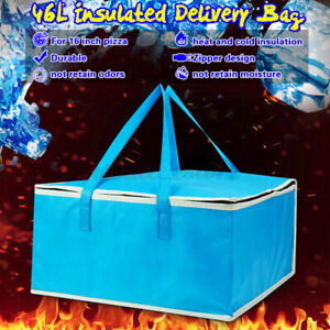 16 Hot Food Pizza Takeaway Restaurant Delivery Bag Thermal Insulated Holder Us