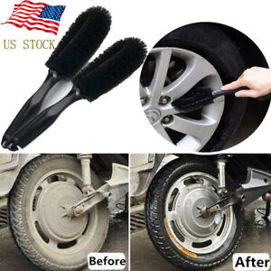 Wheel Tire Rim Scrub Brush Car Truck Motorcycle Cleaner Washing Cleaning Tool Us