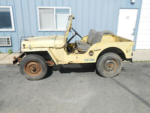 1946 Willys Cj2a W Title Only 8046 Original Miles Free Shipping