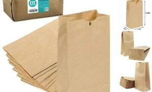 500 Pack Kraft Paper Bags 11 X 6 X 3 5 6 Lb Grocery Lunch Retail Shopping Dur