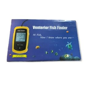 Portable Fishfinder with Wired Sonar Sensor Transducer and LCD Display VT-FF001