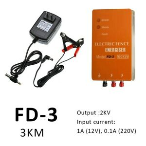 Solar Electric Fence Energizer Charger Animals Poultry Fencing Farm Controller