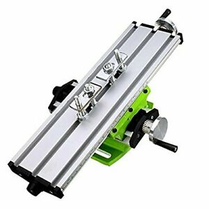 Mini Milling Machine Work Table Vise Portable Compound Bench X y 2 Axis Adjustiv