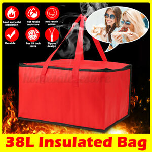 16 16 9 5 Pizza Food Delivery Zipper Bag Insulated Thermal Storage Holder