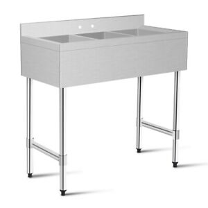 3 compartment Stainless Steel Kitchen Commercial Sink