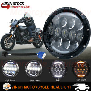 7inch 78w Led Headlight Drl Angel Eyes For Harley Davidson Road Glide Motorcycle