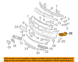 Bmw Oem 08 10 528i Front Bumper Grille air Inlet Duct Tube Right 51117178086