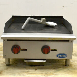 Jaxpro Commercial Gas Griddle 24 2 burner 60k btu Countertop Propane Natural