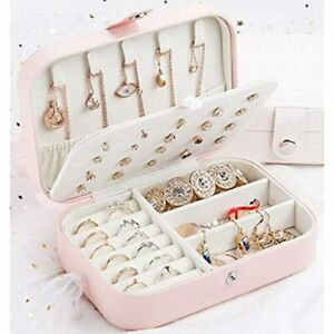 Earring Jewelry Box Organizer For Women Girls Storage Case Rings Necklace Home