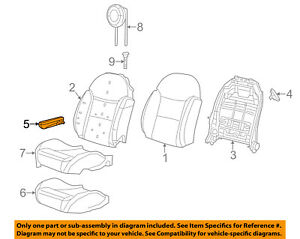 Fiat Oem 16 17 500 Front Seat armrest 6bv31kuhaa