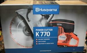 Husqvarna K770 14 Concrete Cutoff Saw New In Factory Sealed Box