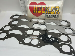 S b Chevy Hooker Header Flange Kit 11890hkr 5 16 Round 2 Spread Port Pattern