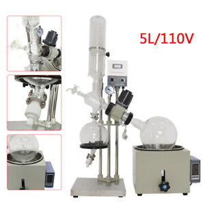 5l Lab Rotary Evaporator 0 120rpm 0 99 Digital Display Rotavapor Equipment 110v