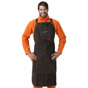 High Quality Protective Leather Welder Welding Apron Adjustable Buckle