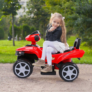 Kids Electric ATV Ride-On Toy Children Car Beach Motorcycle w/LED Lights Sounds