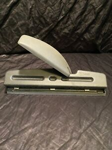 Vintage Acco Easy Hole Punch 2 3 Hole Fully Adjustable Lever Handle 9 32 Holes