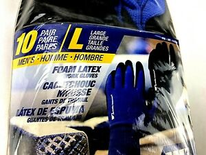 10 Pack Wells Lamont Men s Work Gloves Large Soft Foam Latex