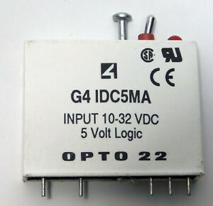 Opto 22 G4 Idc5ma Input Module relay 10 32vdc 5 Volt Logic W Manual Auto Switch