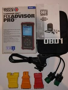 Matco Fix Advisor Pro Md80 Automotive Diagnostic Code Scanner And Obd1 Adapters