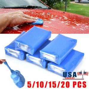 5 10 15pcs Magic Clay Bar Car Truck Cleaning Remove Marks Detailing Wash Cleaner