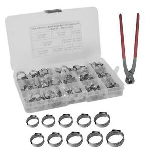 Pex Cinch Clamp Tool Pinch Crimping Wrench W 100pc Stainless Steel Plumbing Pipe