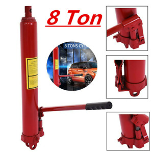 8 Ton Hydraulic Long Ram Jack Lift Shop Crane Steel Engine Hoist Lifting New