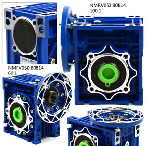 Nmrv050 Worm Gearbox Single Step Reducer 80b14 60 1 100 1 Matched 1400r min Top