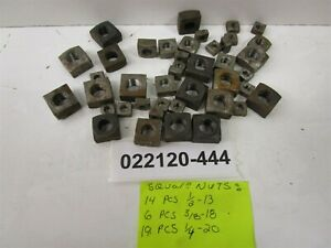 Lot Of 39 Vintage Buffalo Tool Bolt Square Nuts 19 1 4 20 6 3 8 18 14 1 2 13
