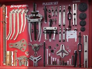 Snap On Master Cj 2000 Interchangeable Puller Set With Cabinet