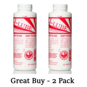 J lube Powder Lubricant Veterinarian Hand Lube 10 Oz Usa Authentic pack Of 2