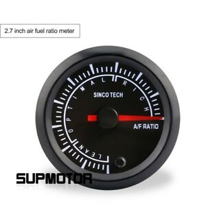 2 in 7 color Car Air Fuel Ratio Gauge Meter Lean optimal rich Range For 12v Car