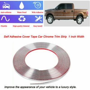 16ft Chrome Trim Silver Molding 1 inch Car Body Side Door Roof Decorative Strip