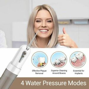 Cordless Water Jet Flosser Oral Dental Irrigator With 7 d And 200 Ml Reservoir