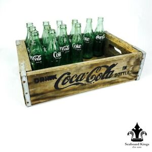 Drink Coca Cola Wooden Crate With Bottles