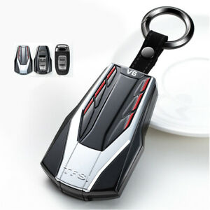 Vtec Style Car Remote Key Fob Case Cover Holder For Audi A3 A6 A8 Q3 Q5 R8 Tt A4
