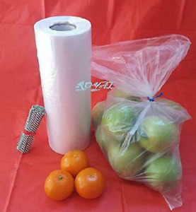 Royal Plastic Bread Grocery Bag On Roll 12x20 Around 350 Plus Bags With Twist Ti