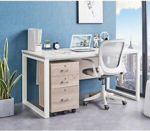 Portable 3 Drawers Storage Filing Cabinet Office File Cabinet