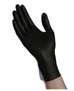 Ambitex Nitrile Exam Gloves Powder free Non latex Fully Textured black 100 bx