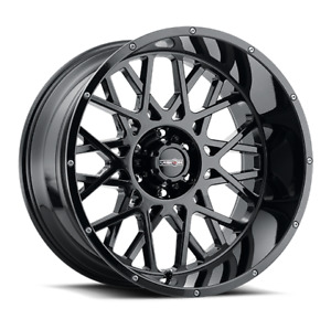 22 Vision Off Road 412 Rocker 22x12 Gloss Black 6x5 5 Truck Wheel 51mm Rim