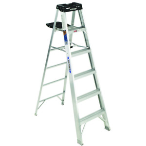 6 Ft Aluminum Step Ladder With 300 Lbs Load Capacity Type Ia Duty Rating