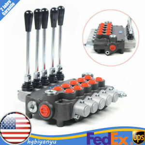 21gpm 5 Spool Hydraulic Control Valve 1 6 Levers For Small Tractor Loader Stock