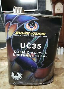 House Of Kolor Uc35 Kosmic Acrylic Urethane Klear Clearcoat 1gal Dented No Leak
