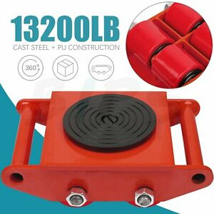Heavy Duty Machine Dolly Skate Machinery Roller Mover Cargo Trolley Red Trolley
