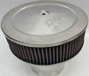 K N Velocity Stack Air Cleaner 58 1190 Stainless 9 Od 8 1 4 Tall 3 Filter