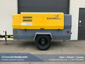 2014 Atlas Copco Xats 250 Cfm Portable Tow Behind Diesel Air Compressor Low Hrs