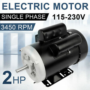 Farm Electric Motor 2 Hp Single Phase 56 Frame 3450 Rpm 115 230 Volt 60 Hz Tefc