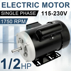 Farm Electric Motor 1 2 Hp 1800 Rpm 56 Frame Single Phase 115 230 Volt 60 Hz