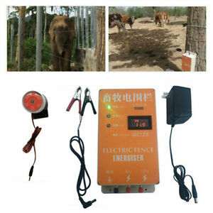 5 10 20km Solar Electric Fence Energizer Charger For Animals Poultry Controller